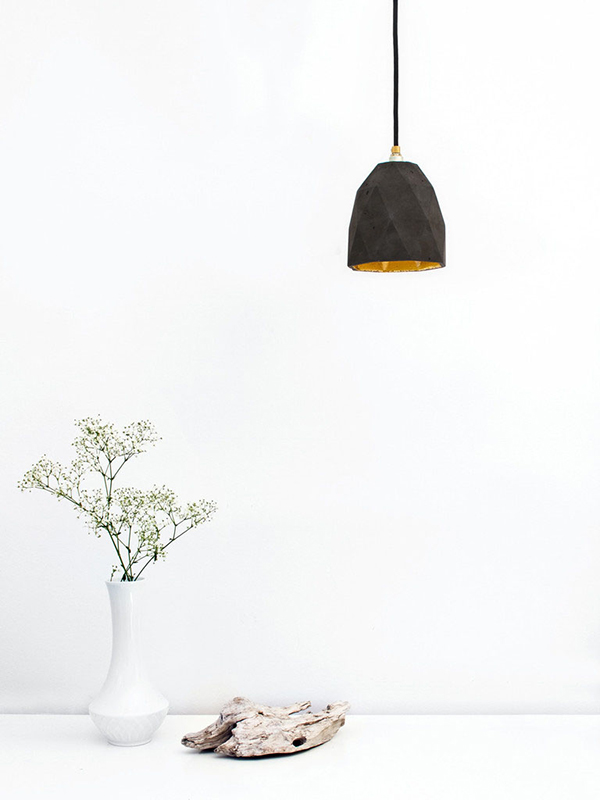 black hanging lamp