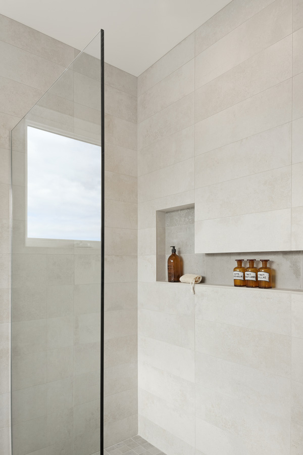 glass shower area