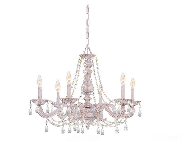 Antique White Crystal Chandelier
