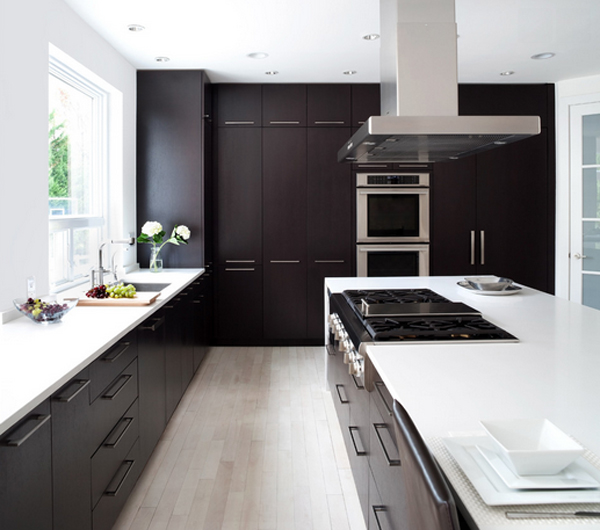Modern Maple Cabinets With Dark Wood Floor: 22 Beautiful Kitchen Colors With Dark Cabinets
