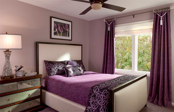purple master bedroom designs