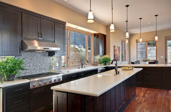 dark kitchen cabinets with light granite countertops 22 beautiful kitchen colors with cabinets home 14474
