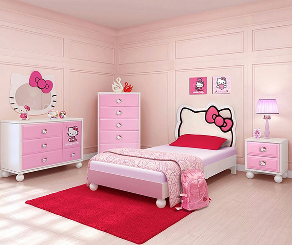 Hello Kitty Bedroom In A Box+Chest