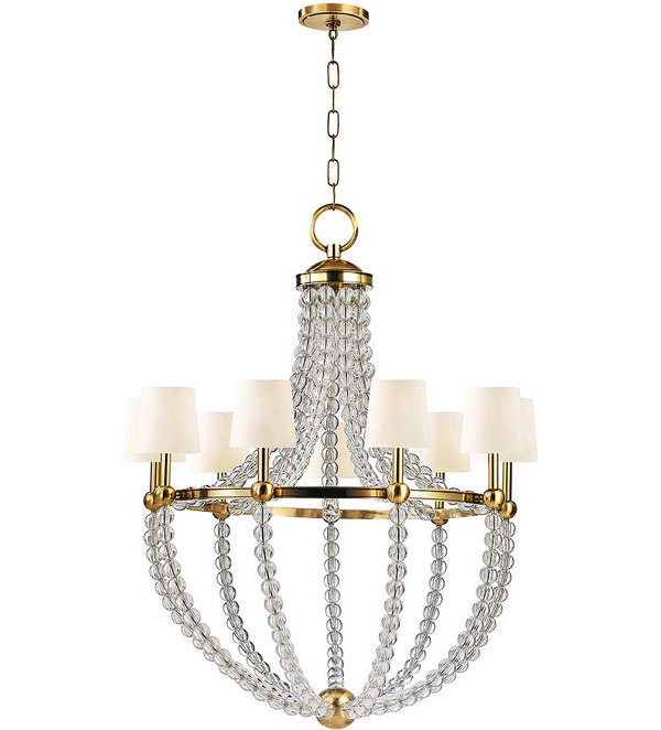 nine Light Crystal Chandelier