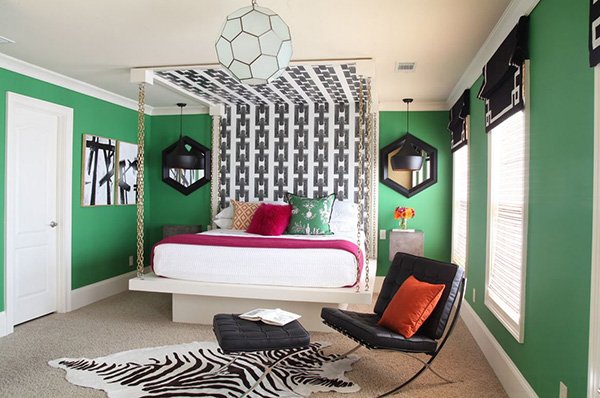 Faux Hanging Bedroom