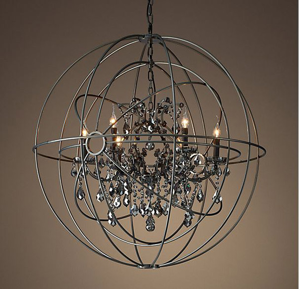 Smoke Crystal Chandelier