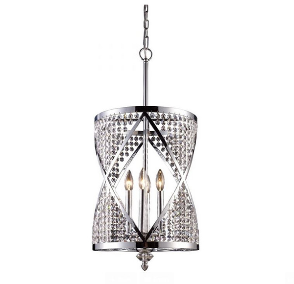 Chrome Crystal Pendant Chandelier