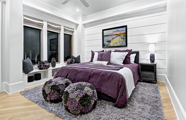 Gray And Purple Master Bedroom Ideas 20 master bedrooms with purple accents | home design lover