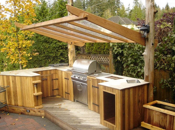 Elegant Outdoor Kitchen Cabinets