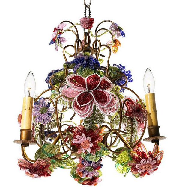 Beaded Flower Chandelier