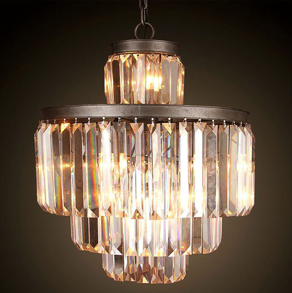 LOFT Antique Crystal Chandelier