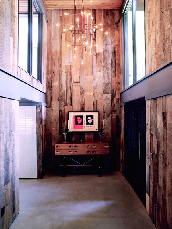 wooden plank interior wall