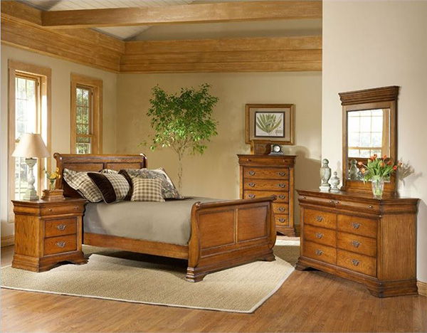 Lafayette 5 Piece Bedroom Set in American Oak