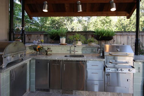 weather-tight outdoor kitchen