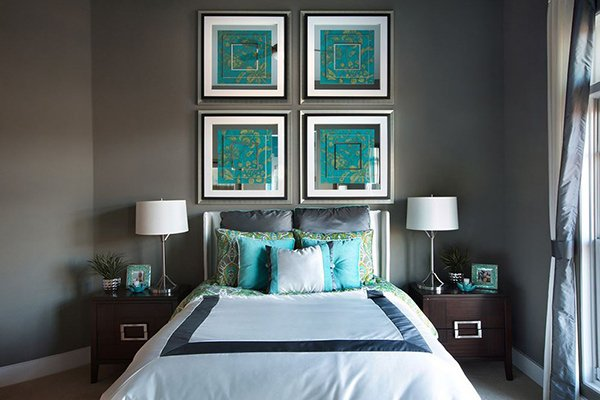 Gray And Turquoise Bedroom. Get Framed 20 Fashionable Turquoise Bedroom Ideas  Home Design Lover
