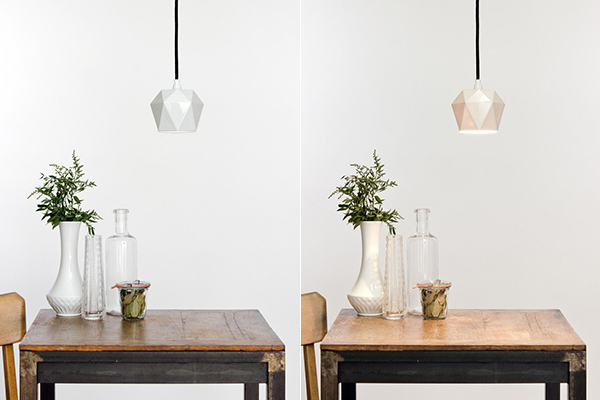 geometric hanging lamp