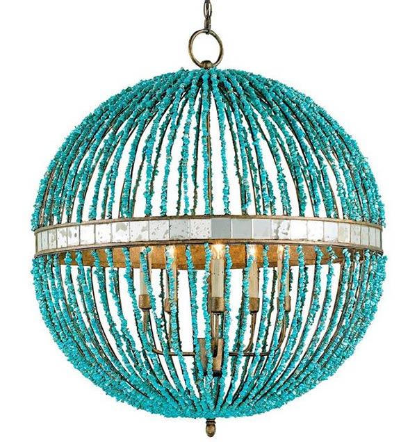 globe-style chandelier