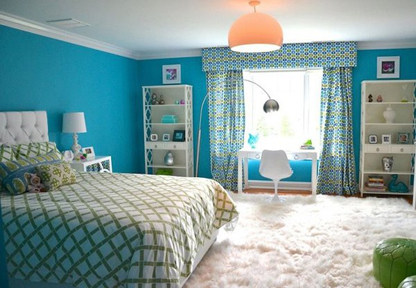 Bedroom Decor Turquoise 20 fashionable turquoise bedroom ideas | home design lover