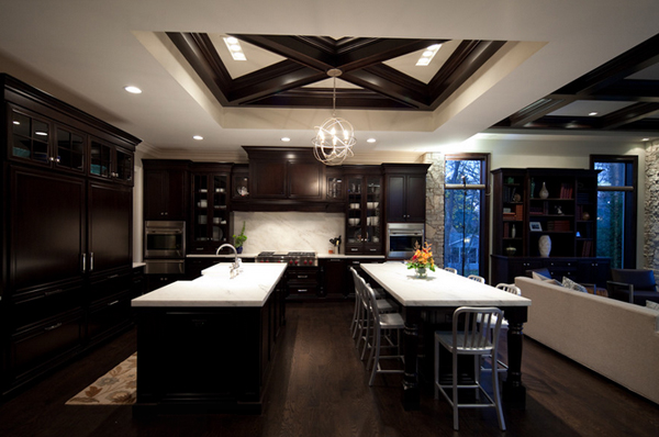 22 Beautiful Kitchen Colors with Dark Cabinets : Home Design Lover
