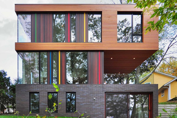 colorful exterior wall design
