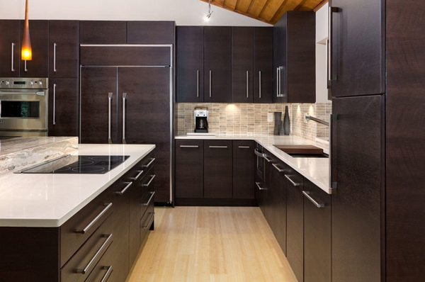 22 beautiful kitchen colors with dark cabinets home for Authentic chinese cuisine for the contemporary kitchen