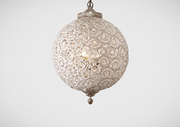 Flowered Ball Chandelier