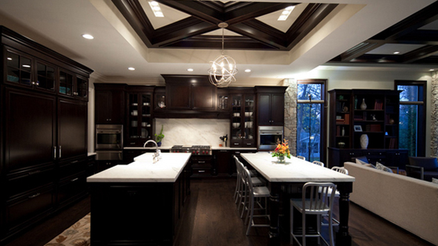Kitchen Cabinet Colors For Black Countertops 22 beautiful kitchen colors with dark cabinets | home design lover