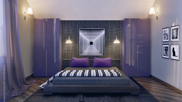 20 master bedrooms with purple accents home design lover 19552 | purple masterbedroom