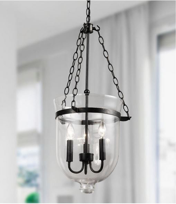 Glass Lantern Chandelier
