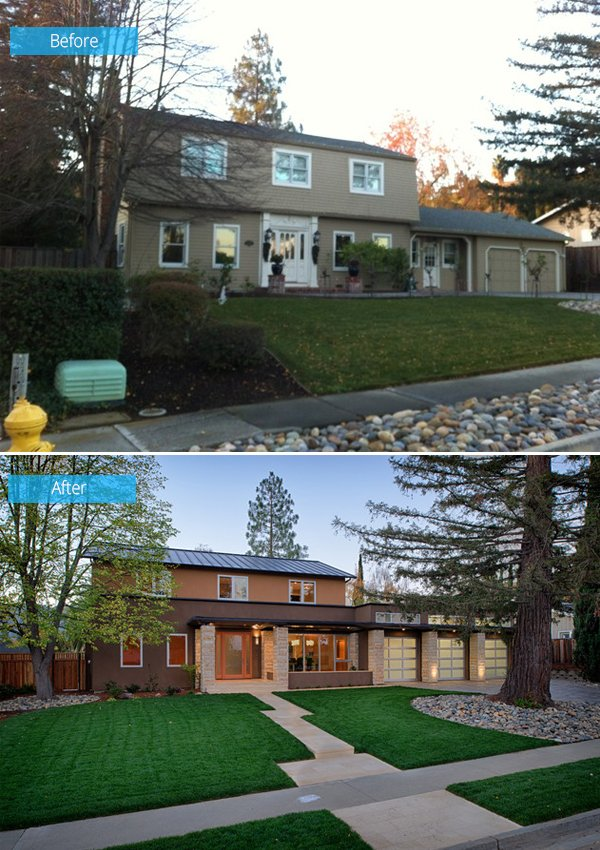 Before and after old house turns into a kid friendly for Contemporary home improvements