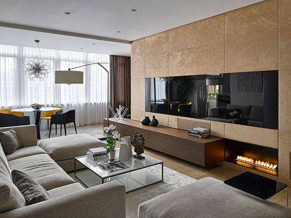 Luxurious moscow apartment adorned with inspiring and inviting details