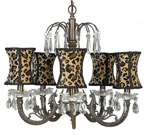 Mocha 5-Arm Waterfall Chandelier