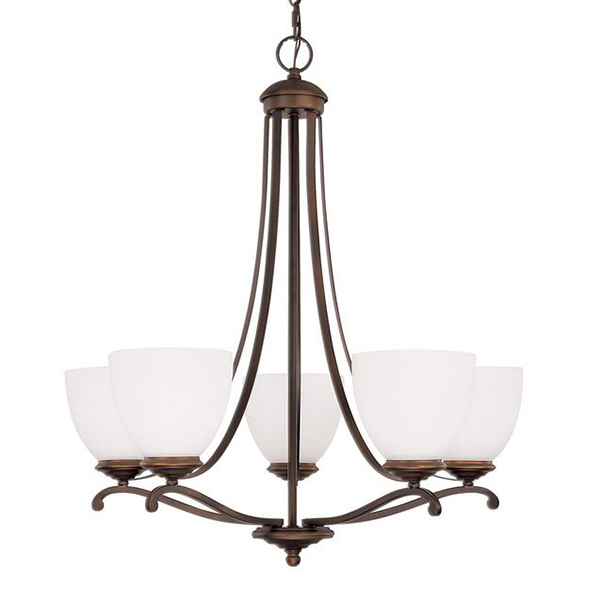 Chapman Bronze 5 Light Chandelier