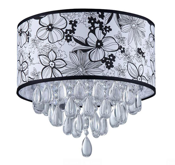 Flower Shade Crystal Chandelier