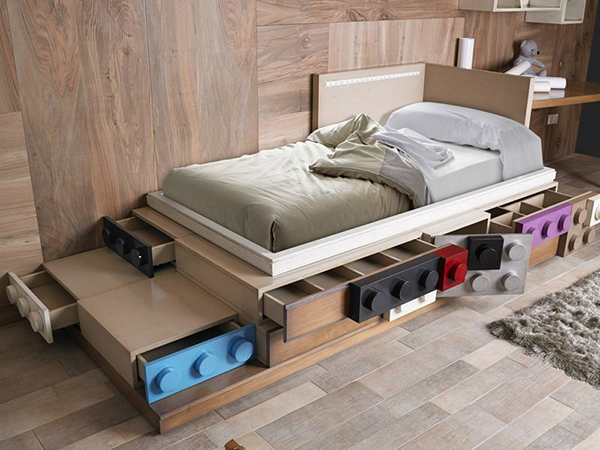 LEGO bed drawer