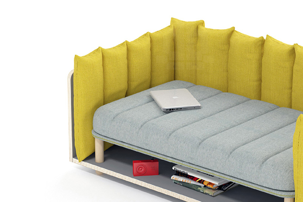 yellow sofa furniture