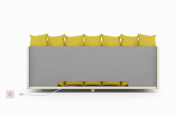 sofa back design