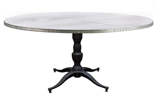 Round Zinc Dining Table