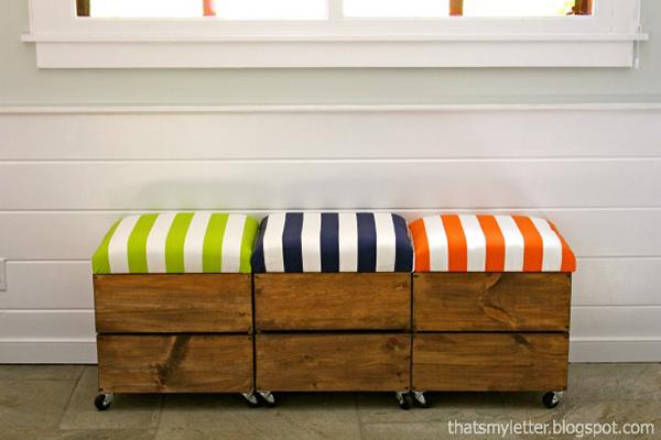 DIY Storage Seat