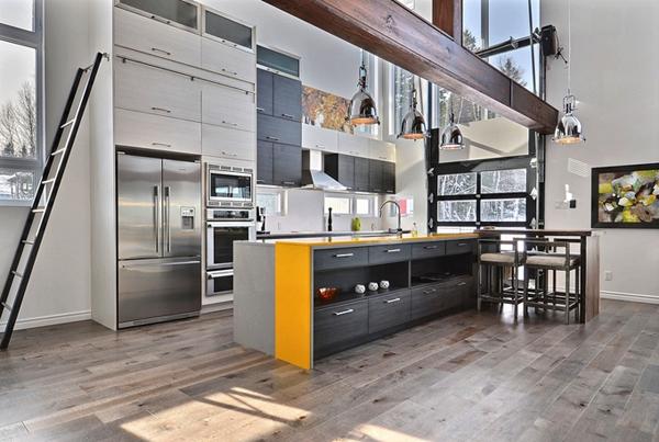 open industrial kitchen