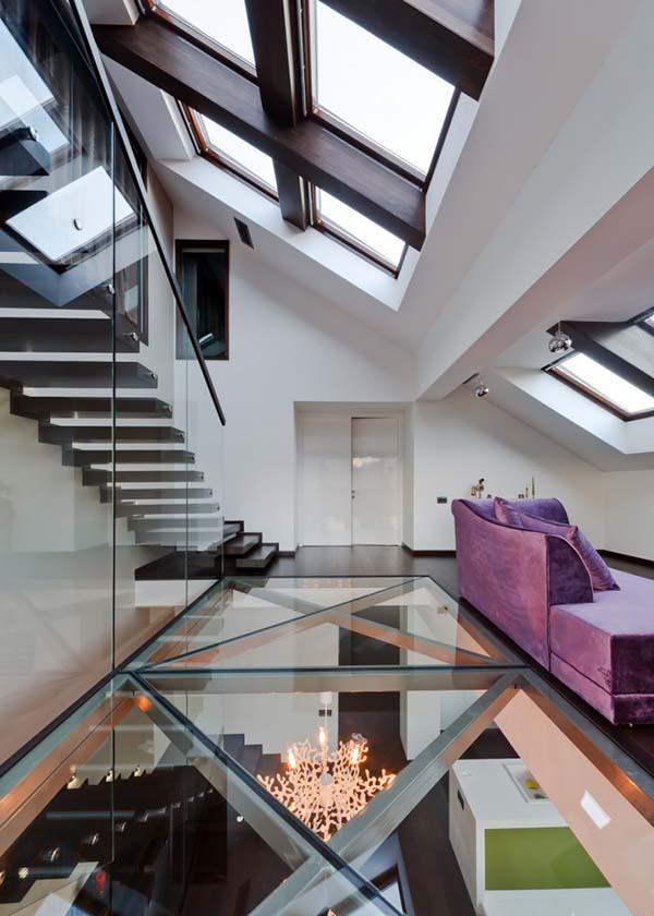 transparent glass floor