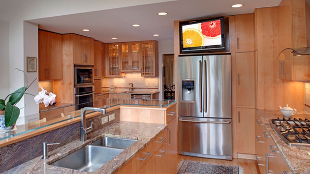 20 Awesome Flat Screen Tv Furniture In The Kitchen Home Design Lover