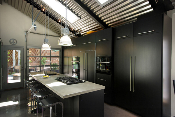20 awesome kitchens with exposed ceilings home design lover exposed ceiling kitchens mozeypictures Images