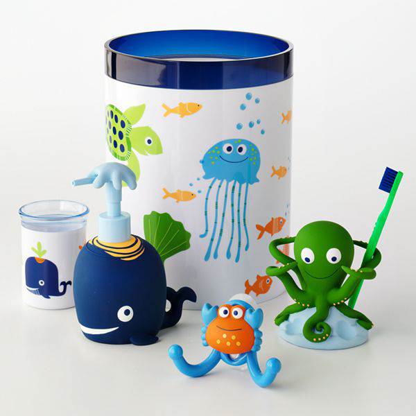 Kids Bathroom Accessories Sets. Fun Sea