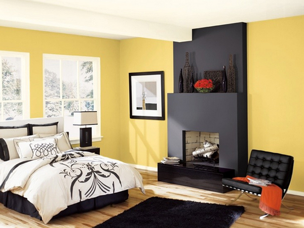 20 Sophisticated Black And Yellow Bedrooms Home Design Lover