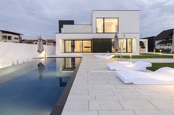 C House Black And White Volumes In A Modern Home In Romania Home Design Lover