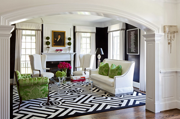 white green living rooms