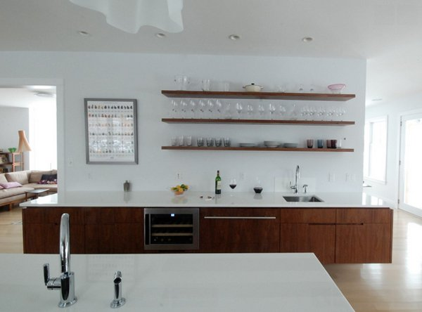 Floating Shelves 20 contemporary floating shelves in the kitchen | home design lover