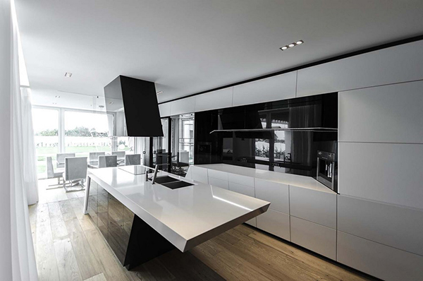 modern kitchen area