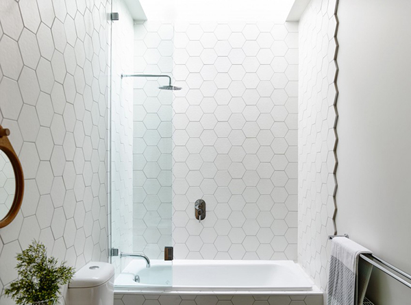 hexagonal bathroom tiles